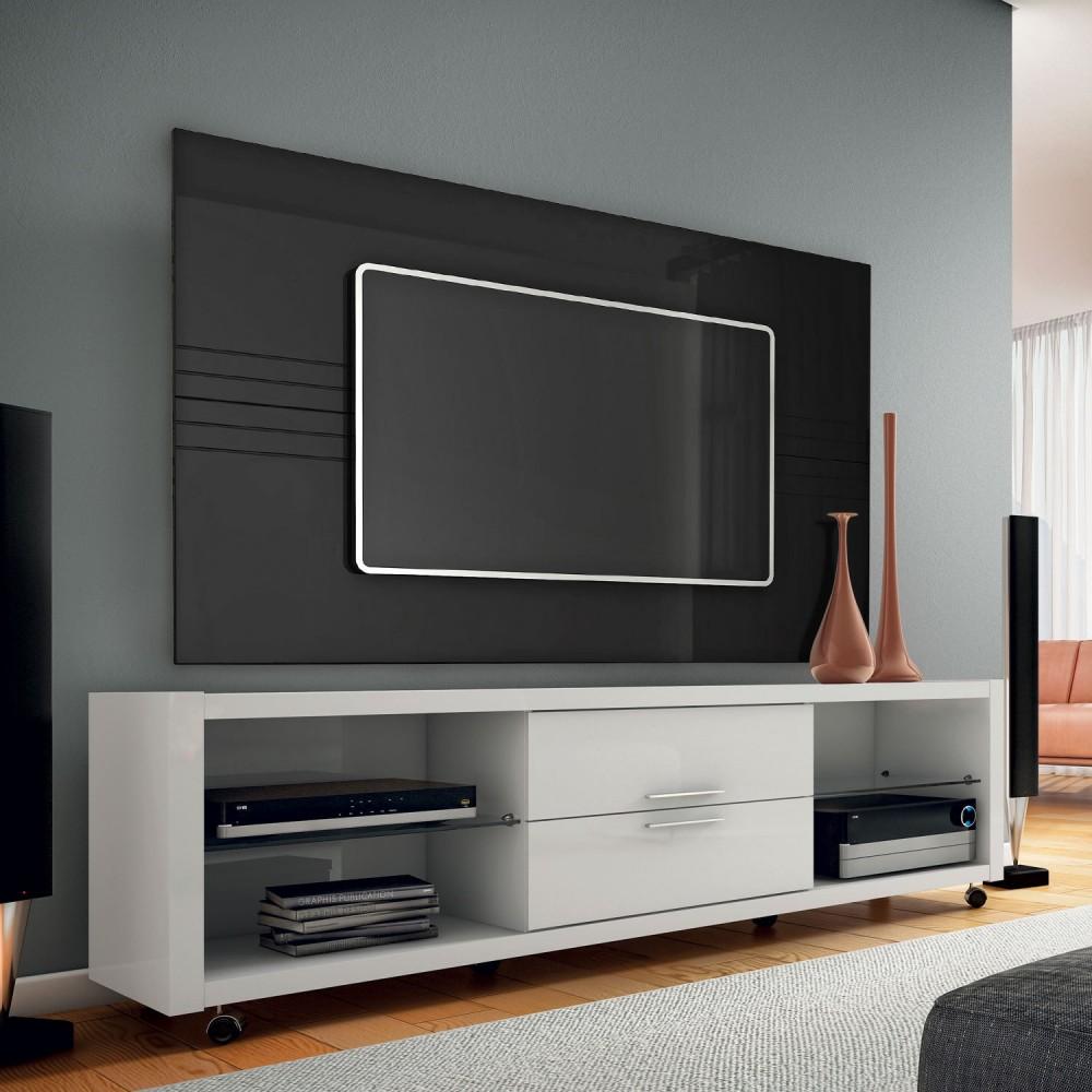 Rack Branco Com Painel Para Quarto ~ De Mais Modernidade Para Sua Sala Com um Rack com Painel Para Sala