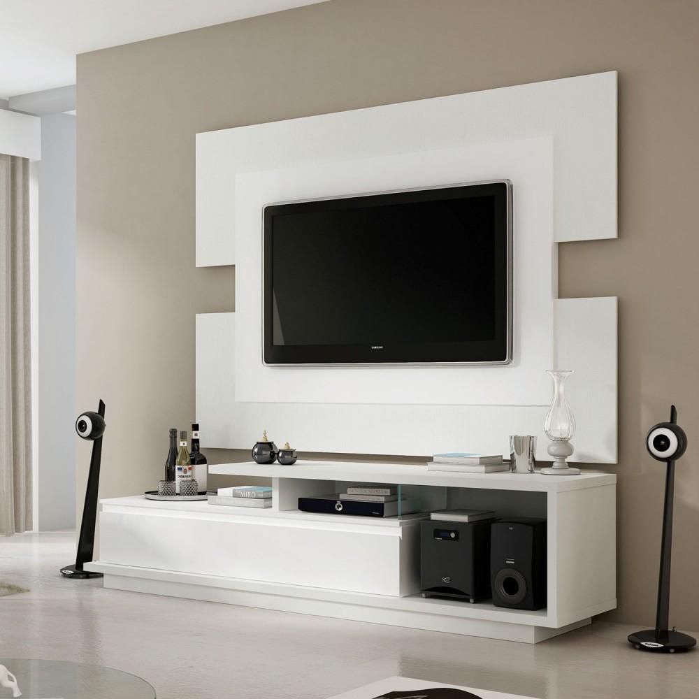 De Mais Modernidade Para Sua Sala Com um Rack com Painel Para Sala  #5C5041 1500x1500