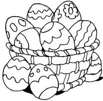 cesta de páscoa para pintar