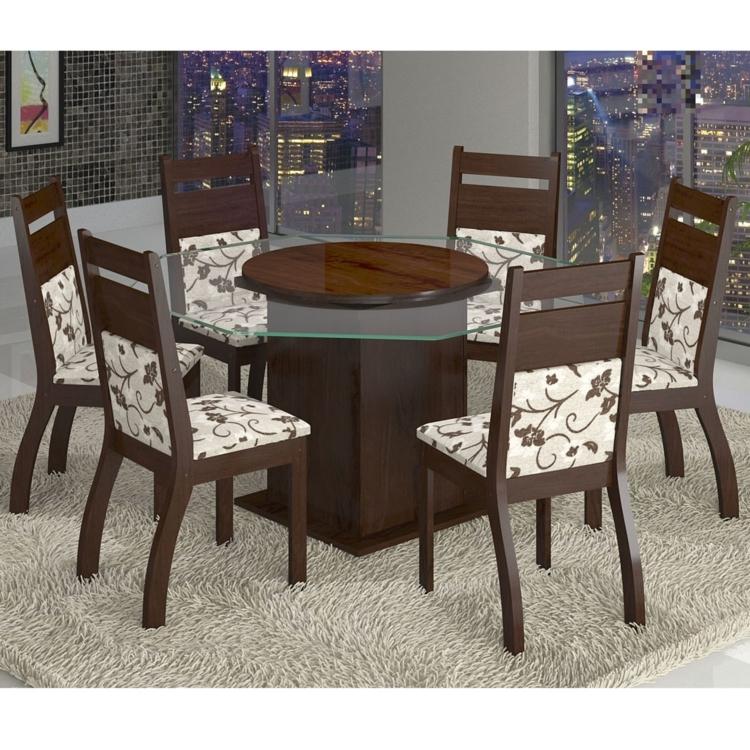 Escolha a mais moderna mesa de jantar com 6 cadeiras para for Mesa moderna