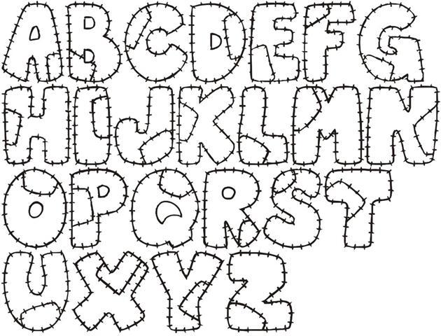 moldes de letras do alfabeto em eva para imprimir