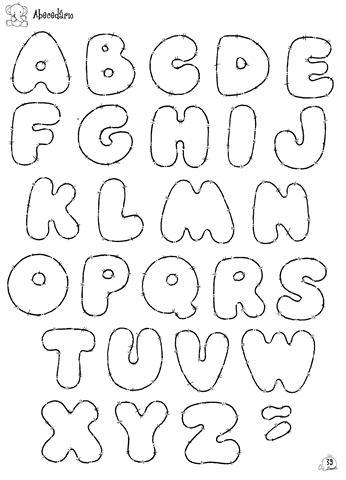 moldes de letras do alfabeto em eva