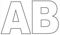 moldes de letras grandes para imprimir ab