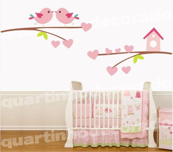 Belos Adesivos de Parede para Quarto de Bebê Feminino para  ~ Adesivos De Parede Para Quarto De Bebe Feminino