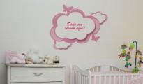 adesivos com frases para quartode bebê feminino