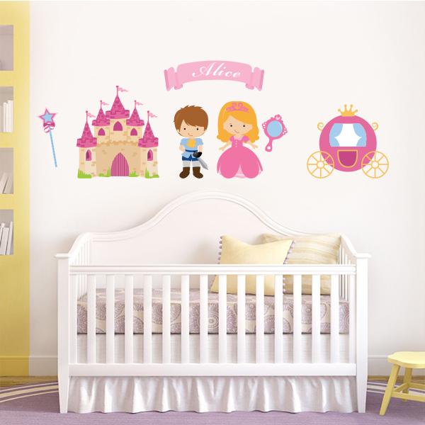 adesivos de parede com nome para bebe menina