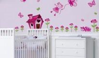 adesivos de parede de borboletas para bebe