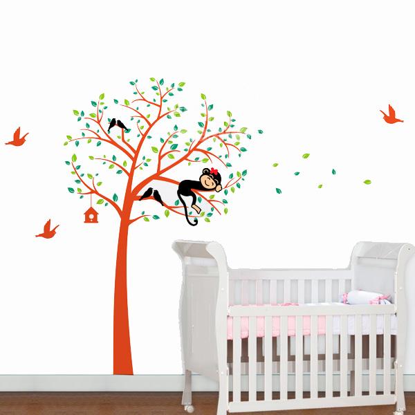 adesivos de parede de passarinhos infantil