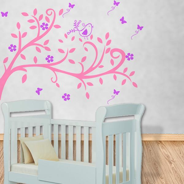 Belos Adesivos de Parede para Quarto de Bebê Feminino para