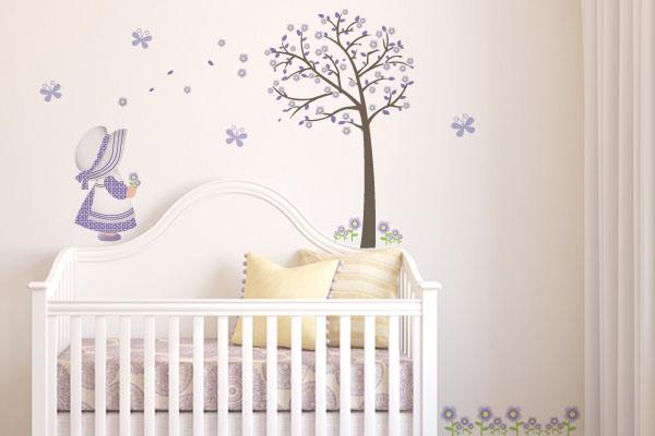 adesivos de parede para quarto de bebe feminino