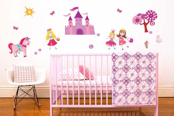 adesivos de princesas para quarto de bebe