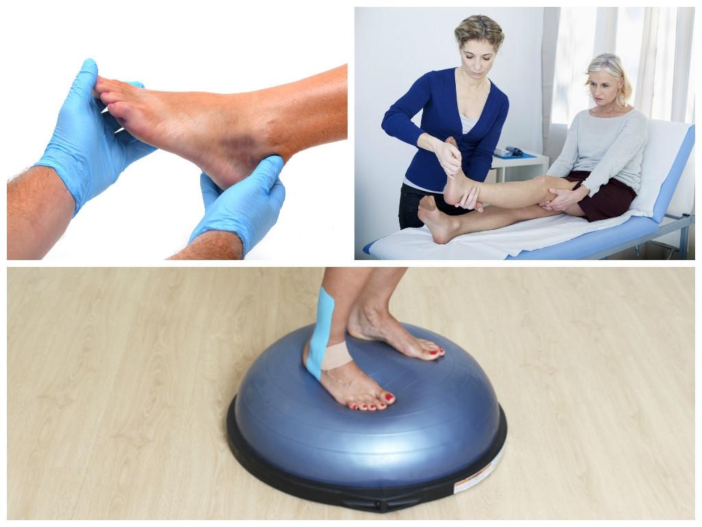 como tratar torção de tornozelo
