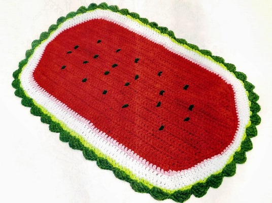 decore   belos tapetes de croch para cozinha max dicas