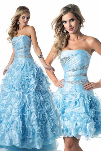 vestidos para debutantes 2 em 1 com bordados