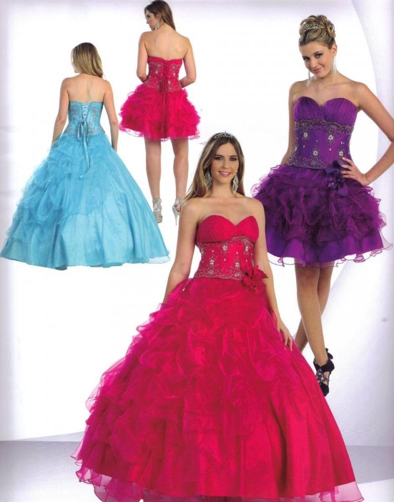 vestidos para debutantes 2 em 1