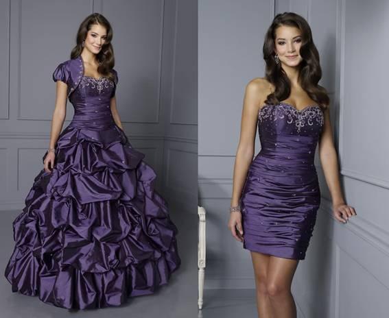 vestidos para debutantes com saia removivel