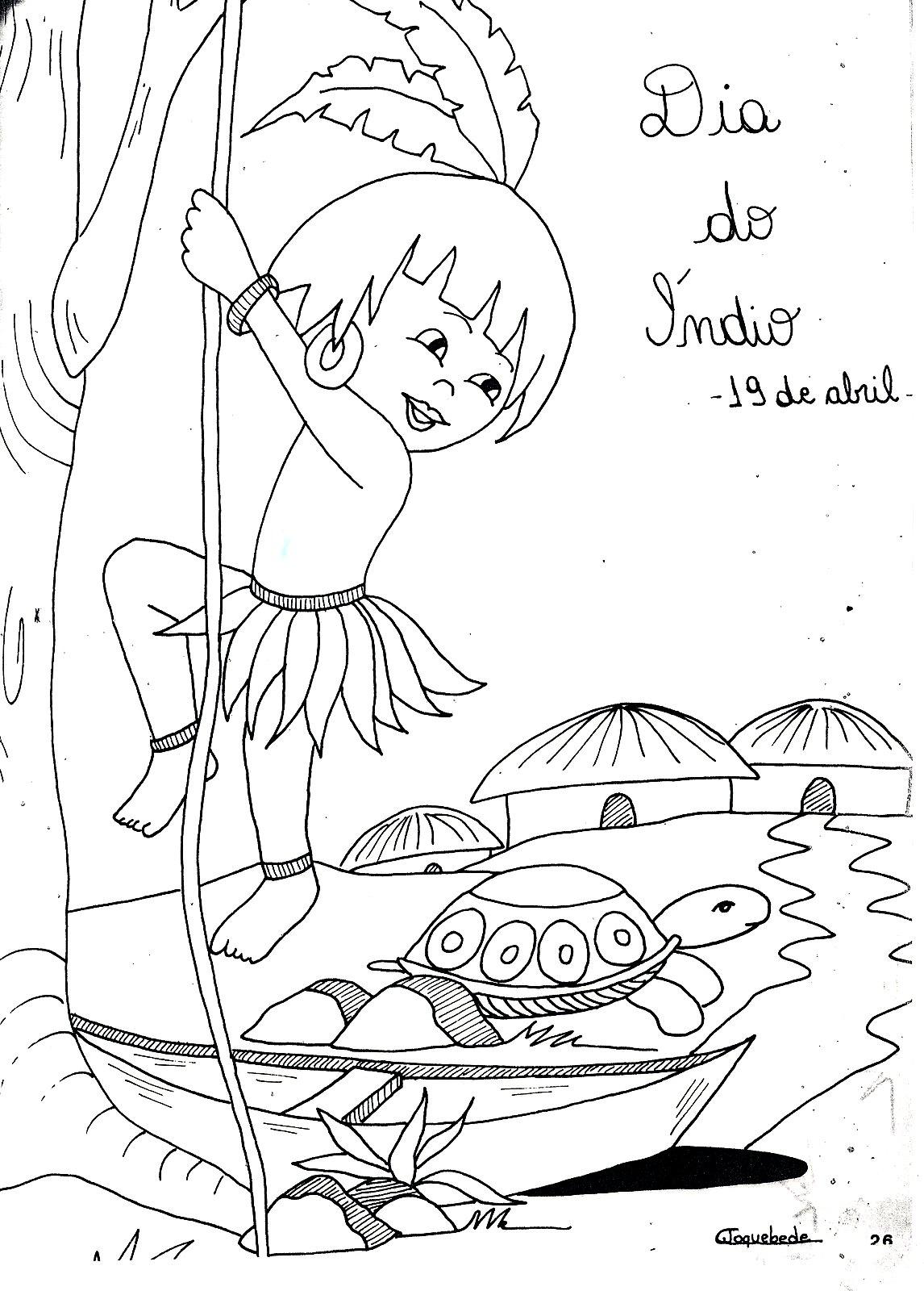 10 Desenhos Para O Dia Do Indio 19 De Abril Max Dicas
