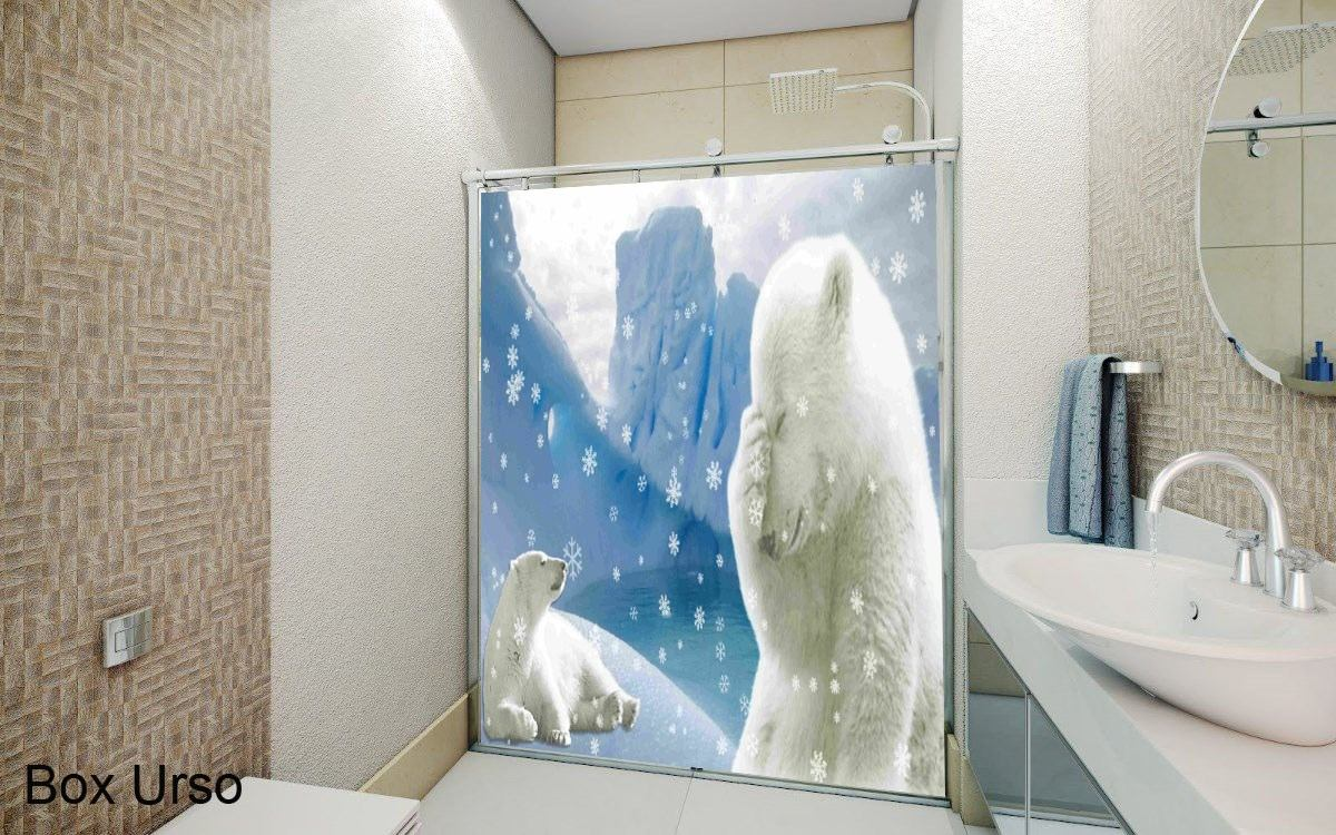 adesivos decorativos para box de banheiro de urso