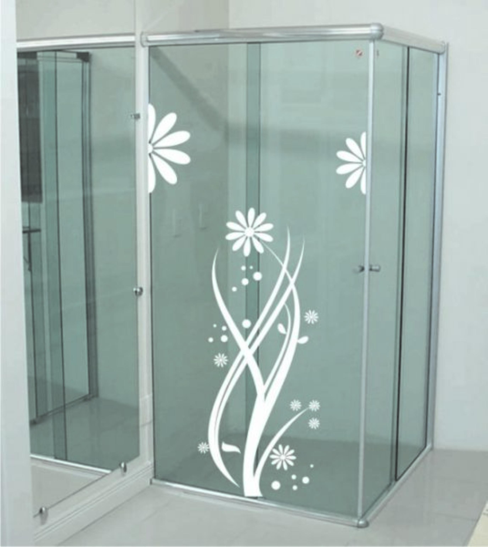 Imagens de #5D6C6E adesivos para box de banheiro de flores.jpg 2751x3085 px 3266 Box Acrilico Para Banheiro Em Joinville