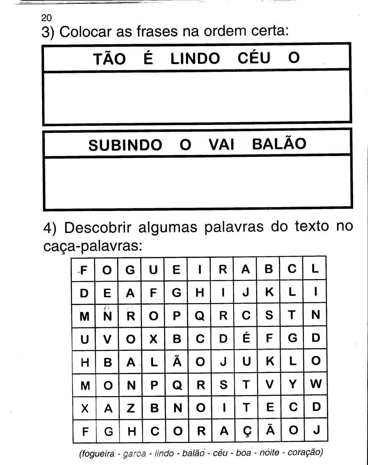 Escolha Otimas Atividades De Festa Junina Para Imprimir Educacao