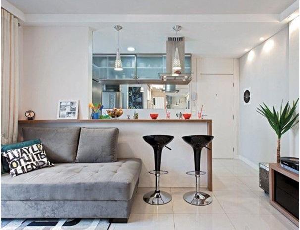decoração com móveis para cozinha americana