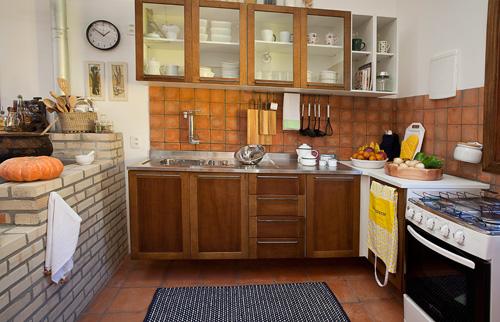 móveis para cozinha rústica