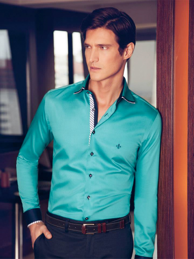 camisas masculinas dudalina verde