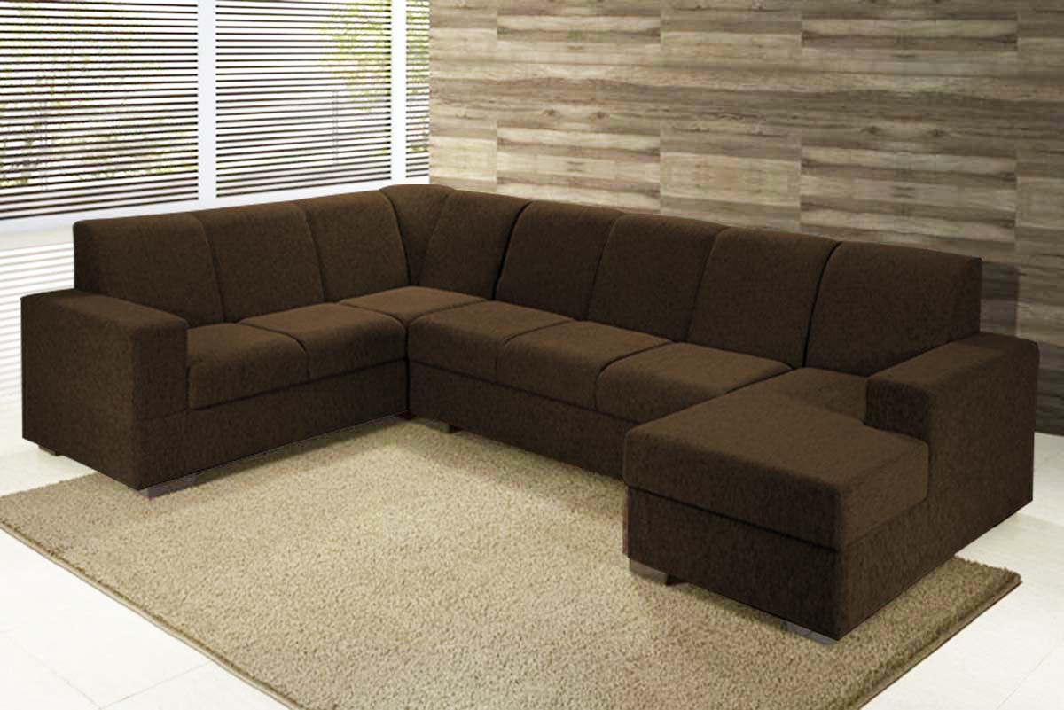 Sala Pequena Sofá Grande ~  Escolha do Seu Sofá de Canto para Sala Grande e Pequena  Max Dicas