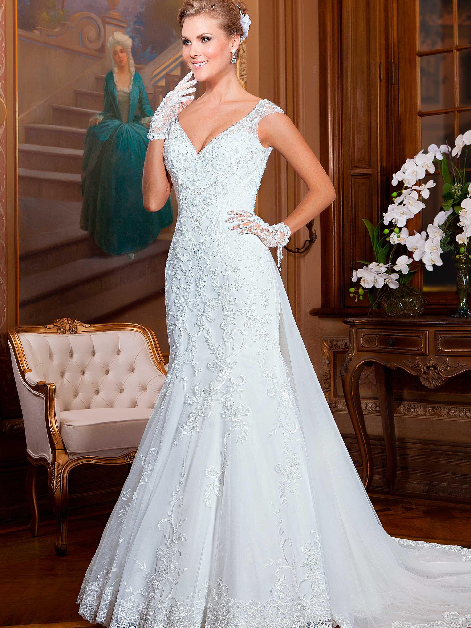 vestido com alcinha de noiva