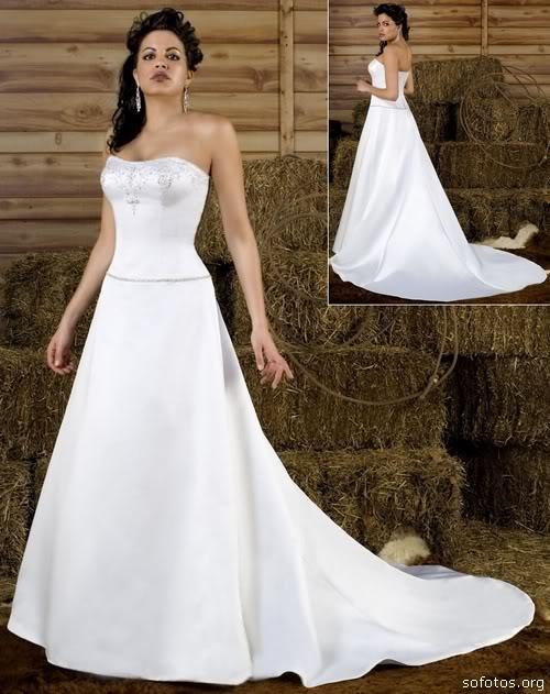 vestidos tomara que caia para noivas