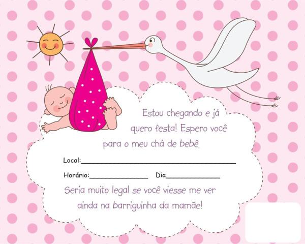 Lindos Modelos De Convites Para Cha De Bebe Para Voce Escolher E