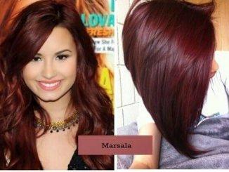 cor marsala para cabelo