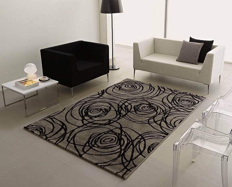 belos tapetes para sala de estar