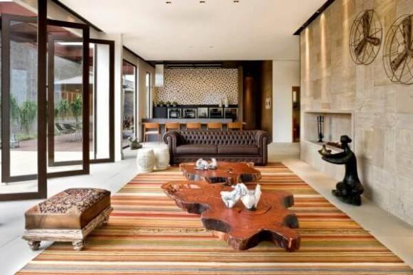 decoracao-com-sofas-de-couro-rustica