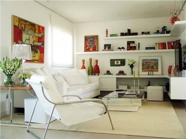 fotos de artigos decorativos para sala de estar