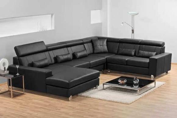 sofas-de-couro-preto-grande