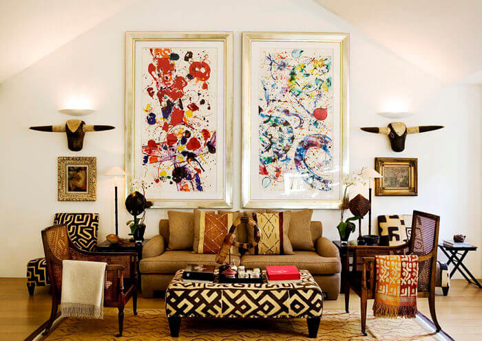 tipos de artigos decorativos para sala de estar